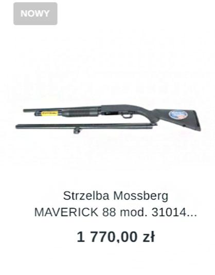 "strzelba mossberg maverick 88 mod. 31014 lufa 18,5""/28"" Field Combo kal. 12/76"