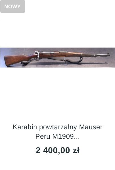 karabin mauser peru m1909